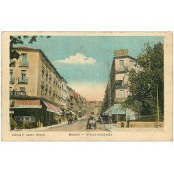 carte postale ancienne 34 BEZIERS. Avenue Gambetta Hôtel Terminus 1923