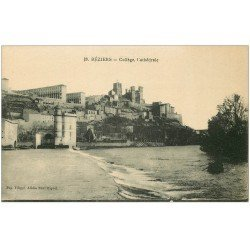 carte postale ancienne 34 BEZIERS. Collège