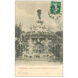 carte postale ancienne 34 BEZIERS. Fontaine Titan Plateau Poètes 1911