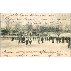 carte postale ancienne 34 BEZIERS. Jeu de Boules sur l'Esplanade 1903. La Pétanque