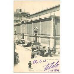 carte postale ancienne 34 BEZIERS. Les Halles 1904