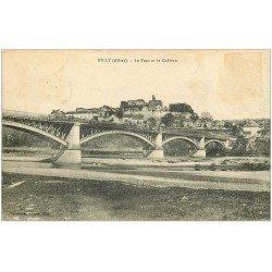 carte postale ancienne 03 BILLY. Château et Pont 1917 (timbre absent)...
