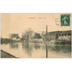 carte postale ancienne 34 BEZIERS. L'Usine à Gaz 1908