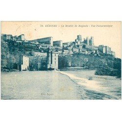 carte postale ancienne 34 BEZIERS. Moulin Bagnols 1937