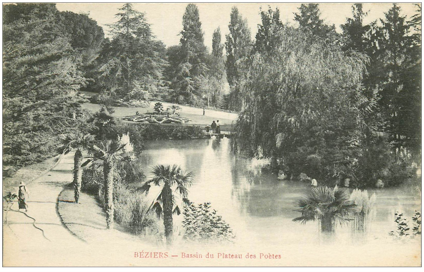 carte postale ancienne 34 BEZIERS. Plateau Poètes 1917