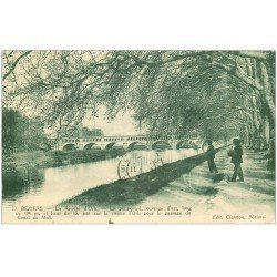 carte postale ancienne 34 BEZIERS. Pont-Canal Orb 1929