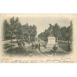 carte postale ancienne 34 BEZIERS. Théâtre Allées Riquet 1903