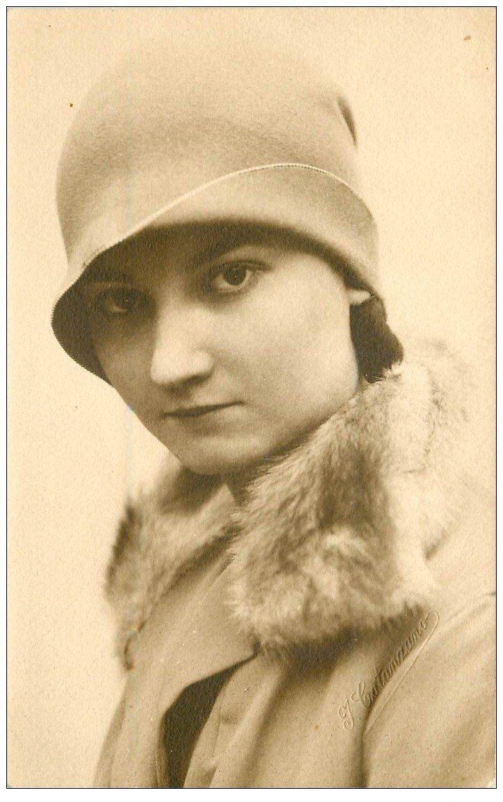 carte postale ancienne 34 Carte Photo Artistique de Catanzano à GANGES 1928