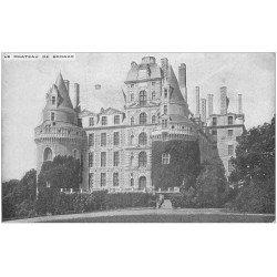 carte postale ancienne 34 CHATEAU DE BRISSAC 1912