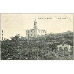 carte postale ancienne 34 CLERMONT-L'HERAULT. Tour Notre-Dame 1905