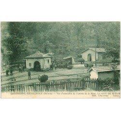 carte postale ancienne 34 GRAISSESSAC-ESTRECHOUX. Relève des Mineurs à la Mine