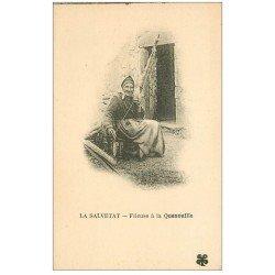 carte postale ancienne 34 LA SALVETAT. Fileuse de Quenouille. Impeccable et vierge