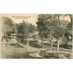 carte postale ancienne 34 LAMALOU-LES-BAINS. Jardin Usclade