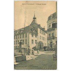carte postale ancienne 03 BOURBON L'ARCHAMBAULT. Hôpital Thermal et Hôtel des Bains. edition Gilté librairie