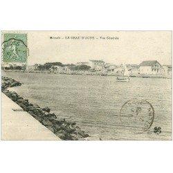 carte postale ancienne 34 LE GRAU D'AGDE 1921