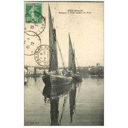 carte postale ancienne 34 MEZE. Bateau à voiles au Port 1922