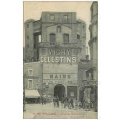 carte postale ancienne 34 MONTPELLIER. Ancien Observatoire Bar du Derby. Vichy Celestins. Bains Blanchisserie Moderne