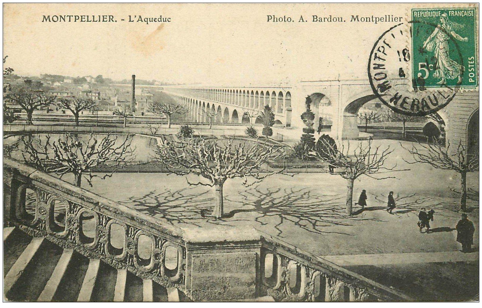 carte postale ancienne 34 MONTPELLIER. Aqueduc 1912