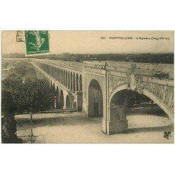 carte postale ancienne 34 MONTPELLIER. Aqueduc 1918