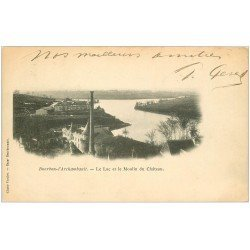 carte postale ancienne 03 BOURBON L'ARCHAMBAULT. Lac et Moulin du Château vers 1900