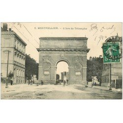 carte postale ancienne 34 MONTPELLIER. Arc Triomphe 1910