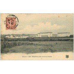 carte postale ancienne 34 MONTPELLIER. Asile des Aliénés 1907