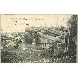 carte postale ancienne 34 MONTPELLIER. Cascades Jardins 1905