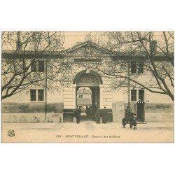 carte postale ancienne 34 MONTPELLIER. Caserne des Minimes vers 1914