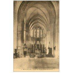 carte postale ancienne 34 MONTPELLIER. Cathédrale Choeur