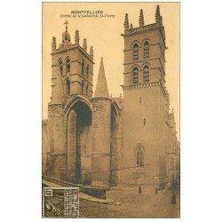 carte postale ancienne 34 MONTPELLIER. Cathédrale entrée 1931