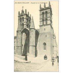 carte postale ancienne 34 MONTPELLIER. Cathédrale façade
