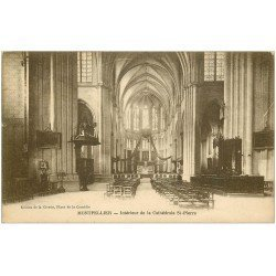 carte postale ancienne 34 MONTPELLIER. Cathédrale intérieur