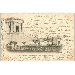 carte postale ancienne 34 MONTPELLIER. Château d'Eau 1902