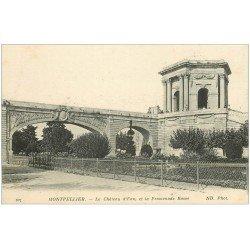 carte postale ancienne 34 MONTPELLIER. Château d'Eau Promenade