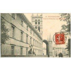carte postale ancienne 34 MONTPELLIER. Ecole de Médecine 1907