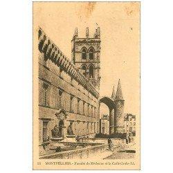 carte postale ancienne 34 MONTPELLIER. Faculté Médecine 1945