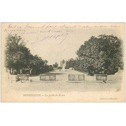 carte postale ancienne 34 MONTPELLIER. Jardin du Peyrou 1903