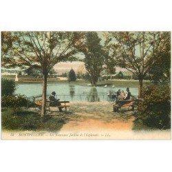 carte postale ancienne 34 MONTPELLIER. Jardins Esplanade