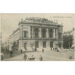 carte postale ancienne 34 MONTPELLIER. Le Théâtre
