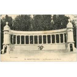 carte postale ancienne 34 MONTPELLIER. Monument Morts 1928