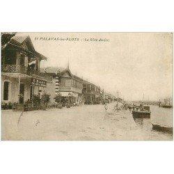 carte postale ancienne 34 PALAVAS-LES-FLOTS. Café de l'Aérodrome Rive droite
