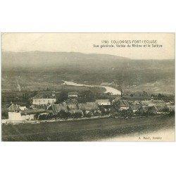 carte postale ancienne 01 Collonges-Fort-l'Ecluse. Vallée du Rhône et le Salève