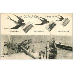 carte postale ancienne 34 PALAVAS-LES-FLOTS. Fantaisie La Jetée. Timbrée mais vierge...