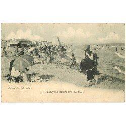 carte postale ancienne 34 PALAVAS-LES-FLOTS. La Plage vers 1908