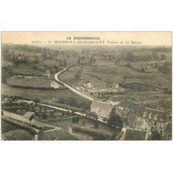 carte postale ancienne 03 BOURBON L'ARCHAMBAULT. Vallée de la Burge 1924