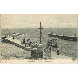 carte postale ancienne 34 PALAVAS-LES-FLOTS. Les Jetées 1919