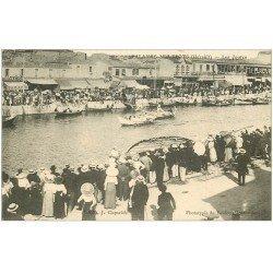 carte postale ancienne 34 PALAVAS-LES-FLOTS. Les Joutes