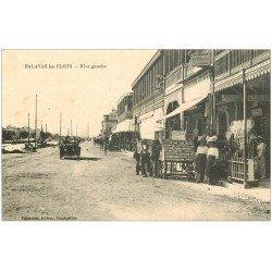carte postale ancienne 34 PALAVAS-LES-FLOTS. Magasin de Cartes Postales Rive gauche et voiture décapotable