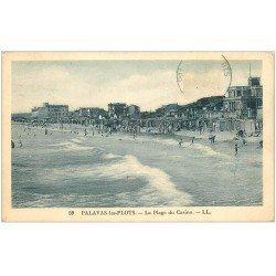 carte postale ancienne 34 PALAVAS-LES-FLOTS. Plage du Casino