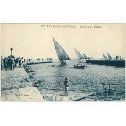 carte postale ancienne 34 PALAVAS-LES-FLOTS. Rentrée de Pêche